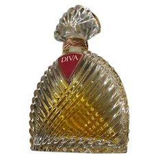 Crystal Perfume Bottle Ungaro Original 1983 Diva with Box - Red Tag Sale Item