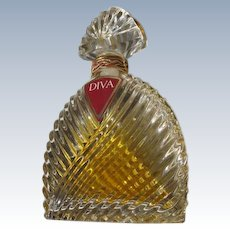 Crystal Perfume Bottle Ungaro Original 1983 Diva with Box