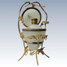 French Opaline Perfume Bottle Egg 19th Century