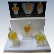 Vintage Boxed Lalique Mini Perfume Bottles Perfect Unused