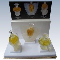 Vintage Boxed Lalique Mini Perfume Bottles Perfect Unused