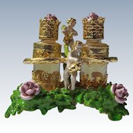 Myrna Pons Perfume Bottles Roses Angels Satin Box