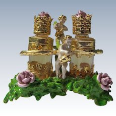 Myrna Pons Perfume Bottles Roses Angels Satin Box