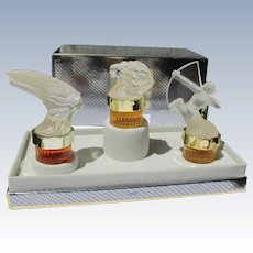 Lalique Mini Perfume Bottles Unused Boxed for Men
