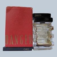 Ciro Perfume Bottle with Box and Ad Danger Perfume