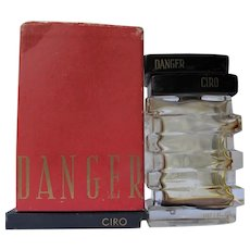 Ciro Perfume Bottle with Box and Ad Danger Perfume