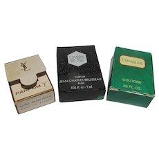 Mini Perfume Bottles Boxed Vintage YSL Coty Brousseau