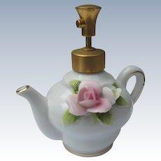 DeVilbiss Perfume Atomizer Bottle Teapot 1965