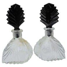 Vintage Perfume Bottles New Martinsville Set or One  1930's