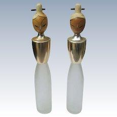 Two Vintage Bottles for Sake of Oriental Ladies Commercial Vintage