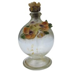 Hand Blown Perfume Bottle Souvenir with Shells