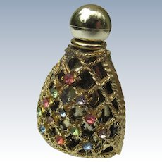 Small Perfume Bottle for Purse Jeweled Vintage and Perfect