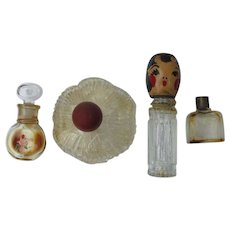 Novelty Perfume Bottles 1920's 30's Four
