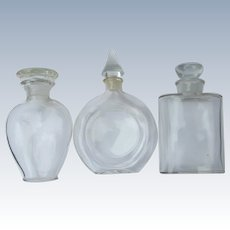 Three Commercial Perfume Bottles Made in France Dior Guerlain Marcel Rochas