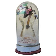 Schiaparelli Perfume Bottle Shocking Figural Glass Flowers Dome