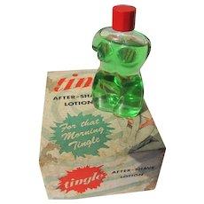 Box Cologne Bottle Figural 1951 Tingle