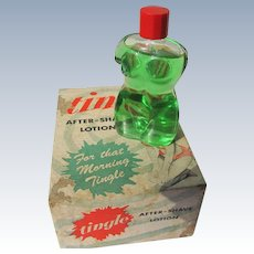 Box Cologne Bottle Figural 1951 Tingle