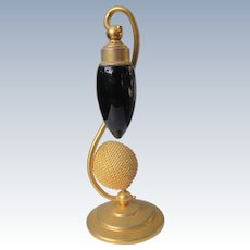 Art Deco DeVilbiss Perfume Bottle With Brass Stand