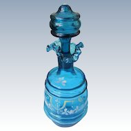 Victorian Perfume Cologne Bottle 1880's Turquoise Glass