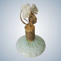 Murano Perfume Bottle with Flowers Irice Italy
