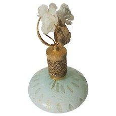 Murano Perfume Bottle with Flowers Irice Italy