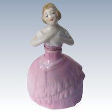 German Porcelain Perfume Bottle 1920's Figural Bottle
