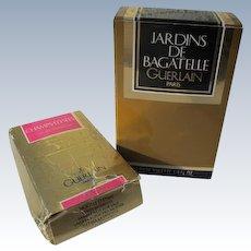 Guerlain Mini Perfume Bottles in Box Jardins 1983 and Champs 1995