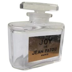 "Crystal Commercial  Perfume Bottle Jean Patou ""Joy"" Perfect Condition"
