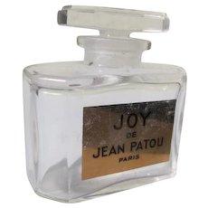 Joy Perfume Bottle Crystal  Label Perfect
