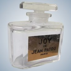 Joy Perfume Bottle Crystal  Label Perfect