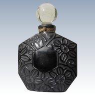 Ombre Rose Perfume by Brosseau 1981 Empty Black Flowers