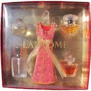 Lancome Mini Perfume Bottle Holiday Set 1990's Novelty Perfumes