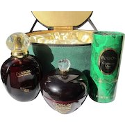 Dior Boxed Perfume Bottle Set Cream and Talc Season Promotional Fabric Box