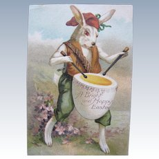 Easter Postcard Dressed Rabbit 1908