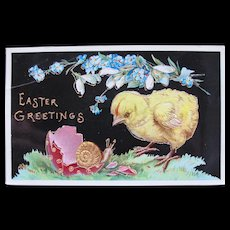 Easter Postcard Germany Embossed Bright Great Condition Chrome