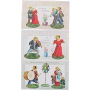 Vintage Easter Cards Dressed Animals Chicks