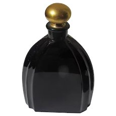 French Perfume Bottle 1925 Reve De Noel by Veldez Opaque Black Glass