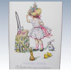 Vintage Easter Postcard Unused EX Condition