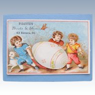 Victorian Trade Card for Easter Shoes from Forsyths