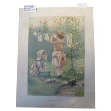Lithograph Childrens Book Illustrator Harriett Bennett Printer Earnest Nister 1900