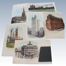 New York Postcards Pre 1907 Never Used Buildings of NY 1889