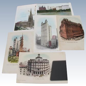 New York Postcards Pre 1907 Never Used Building of NY 1889