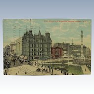 Buffalo New York Post Card Lafayette Square on Main Street 1912
