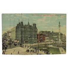 Buffalo New York Post Card Lafayette Square on Main Street 1912