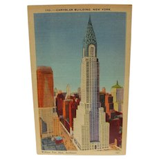 Post Card New York Chrysler Building - Red Tag Sale Item