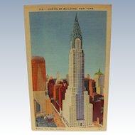 Post Card New York Chrysler Building