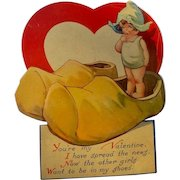 Valentine's Day Card 1920s Illustrator Charles Twelvetrees