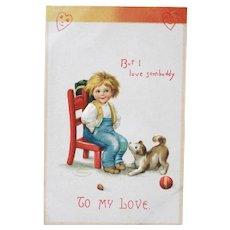 Valentine's Day Postcard Ellen Clapsaddle Illustrator Unused 1908