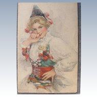 Artist Signed Postcard Kinneys Dutch Girl Holland