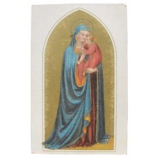 Christmas Italian Postcard Mother Mary Madonna 1907 by Angelico